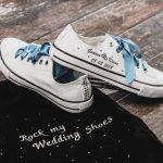Hochzeitsschuhe mit persönlichem Textildruck