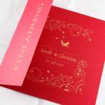 Hochzeitseinladung hochwertig in gold gedruckt