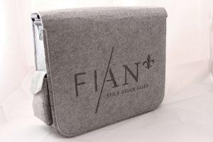 Tasche mit langlebiger und nachhaltiger Lasergravur