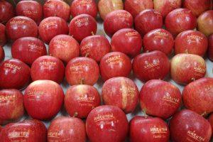Äpfel mit hochwertiger Lebensmittelgravur vom Experten
