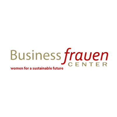 Businessfrauen Logo in gold und rot