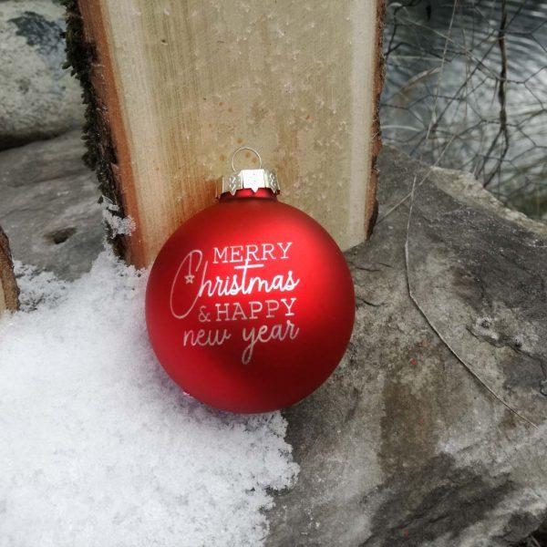 Extravagant bedruckte persönliche Weihnachtskugel
