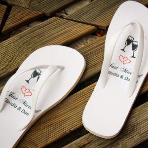 Flip Flops bedruckt für Hochzeit