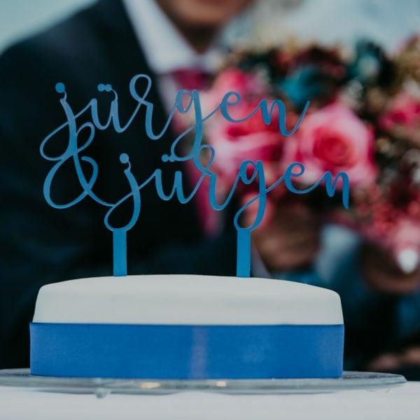 Geburtstagstorte individuell mit Schriftzug