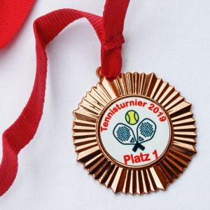 Medaille Bronze individuell bedruckt
