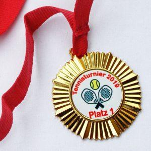 Medaille Gold für Vereine bedruckt