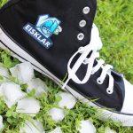 Schuh bedruckt mit fotorealistischem Motiv