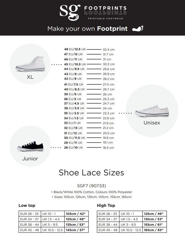Tabelle mit Schuhgrößen
